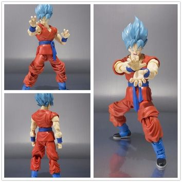 Dragon Ball Z SHF Figuarts Super Saiyan God Goku Joint Movable Doll PVC Figure Figurine Resin Collection Model Toy Gifts Cosplay