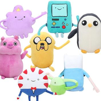 Adventure time plush doll toy 24-67cm Jake Finn Beemo BMO Penguin Gunter Lumpy Space Princess Peppermint butler Stuffed Toy