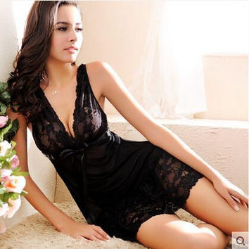 Sexy Sleepwear Ladies Sleep Dress Women Intimates Sexy Lingerie Nightwear Sexy Nightgown Women Nightwear Clothing For Women XXL