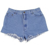 Rokit Recycled Blue Denim Turn Up Shorts W34 | Rokit Recycled | Rokit Vintage Clothing