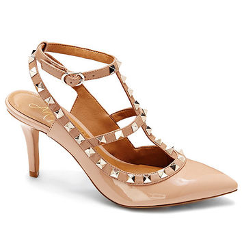 Arturo Chiang Gracen Pointy Toe Studded Pumps | Dillards