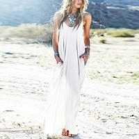 Spaghetti Strap Flowy Maxi Dress 3 Colors 9 sizes