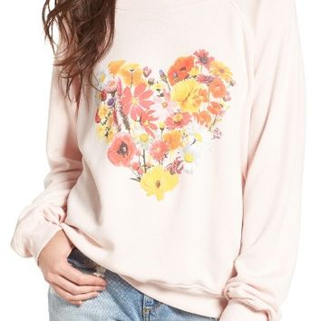 Wildfox Blooming Heart Pullover   Nordstrom