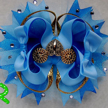 Cinderella  Hair Bow ,Princess  Ott Bow, Disney Layered Bow , Carriage hair bow  Stacked Bow , Cinderella  2015 bow