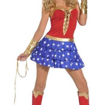 Role-playing games uniforms superman costume wonder woman dress uniform temptation (Size: M) = 1945846084
