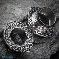 Classic Fliigree Ornate Single Flared Tunnel Plug