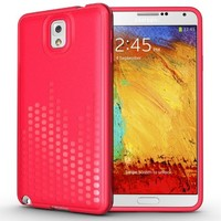 TUDIA Ultra Slim Melody Series TPU Protective Case for Samsung Galaxy Note 3 III (Pink)