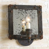 Industrial Mirrored Wall Sconce - Shades of Light