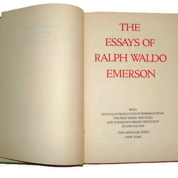 1934 Edition The Essays of Ralph Waldo Emerson Anniversary Edition Limited First Series Second Series in One Volume Vintage Hardback Library