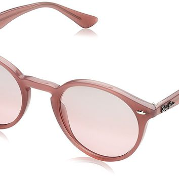 Ray-Ban INJECTED MAN SUNGLASS - OPAL ANTIQUE PINK Frame PINK MIRROR SILVER GRAD Lenses 49mm Non-Polarized