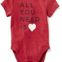 Short-Sleeve Graphic Bodysuit for Baby