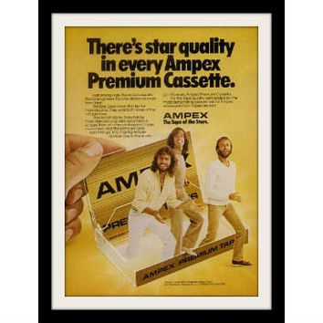 "1981 Ampex Audio Cassette Ad ""Bee Gees"" Vintage Advertisement Print"