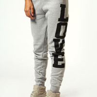 Emma Love Print Joggers With Contrast Waistband