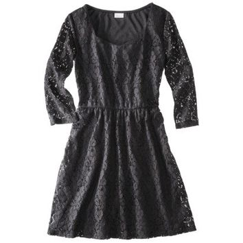 Xhilaration® Juniors Lace Dress - Black