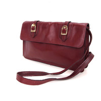 Katelyn, French Vintage, Mulberry Leather 1970s Handbag from Paris