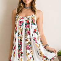 Festival Friendly Floral Dress - Ivory
