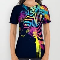 Zebra Splatters All Over Print Shirt by Olechka