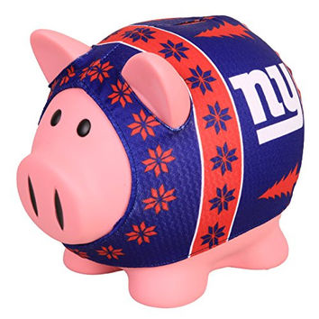 NFL New York Giants Sweater Pig Bank, Blue