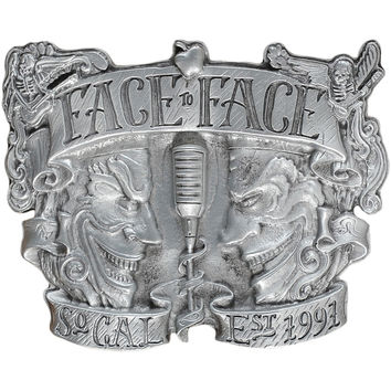 Face To Face Men's Belt Buckle Silver