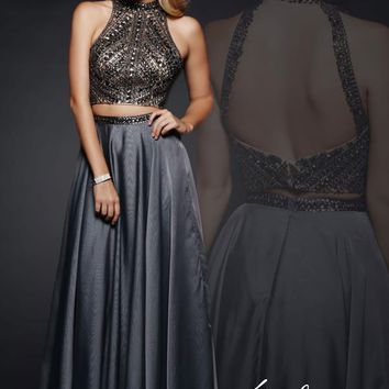Milano Formals Two Piece Beaded Dress E1940