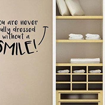 """Lucky Girl Decals Mary Poppins Wall Decal Sticker You're Never Fully Dressed Without A Smile 21.9""""w x 12""""h"""