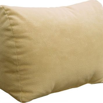 "Body Rest Back & Knee Pillow Wedge (Buff Microsuede) (14""H x 9.5""W x 17""D)"