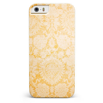 Mustard Yellow Cauliflower Damask Pattern iPhone 5/5s or SE INK-Fuzed Case