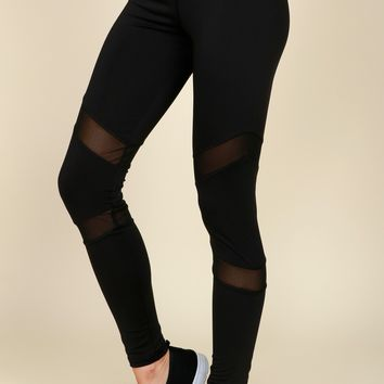 Don't Mesh Up Active Pants Black
