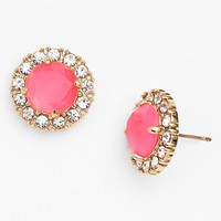 Women's kate spade new york 'secret garden' mixed stone stud earrings - Fluorescent Pink/ Clear/ Gold