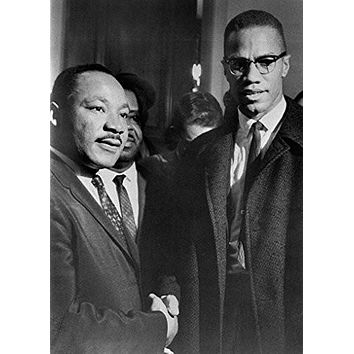 MALCOLM X & MLK POSTER Handshake - Martin Luther King RARE HOT NEW 24x33