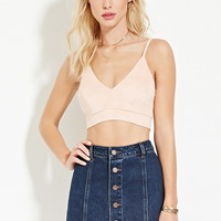 Faux Suede Cropped Cami | FOREVER 21 - 2000153065