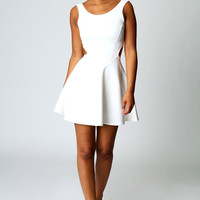 Ashley Cut Out Sides Skater Dress