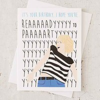 Perks Of Aurora Ready To Party Birthday Card
