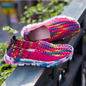 Womens Comfortable Braided Sports Shoes