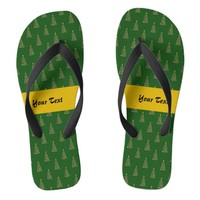 Seamless pattern with Christmas trees Flip Flops