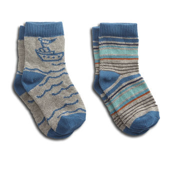 Tugboat Baby Sock Two-Pack - PACT