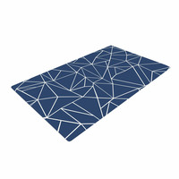 "Project M ""Abstraction Outline Navy"" Blue Abstract Woven Area Rug"