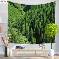 XYZLS Modern Wall Tapestry Halo Green Plant Decoration Tapestry 150*200cm Polyester Beach Towel Yago Mat Sofa Cover