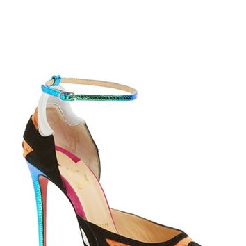 Christian Louboutin 'Discodeporte' Genuine Python Ankle Strap Pump (Women) | Nordstrom