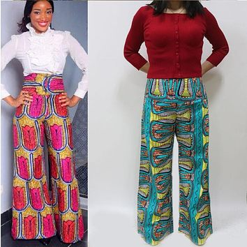 2016 super wax african print pants african print trousers ankara pants with pockets from china clothing factory