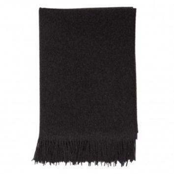 Johnstons of Elgin| Cashmere Throw| Charcoal