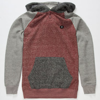 Billabong Balance Boys Henley Hoodie Heather Red  In Sizes