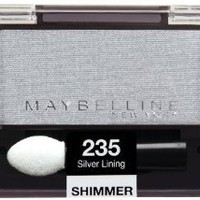 Maybelline New York Expert Wear Eyeshadow Singles, Silver Lining 235 Shimmer, 0.09 Ounce