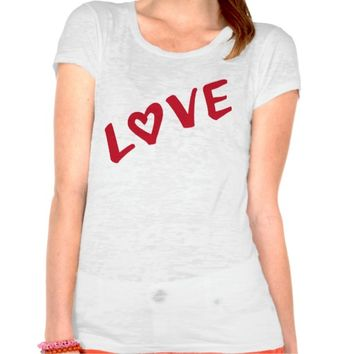 LOVE Inspired Thick Graphic Stroke Brush Tee