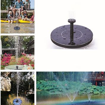 210L/H Solar Fountain Solar Water Fountain Garden Pool Pond Outdoor Solar Panel Fountain Floating Fountain Garden Decoration