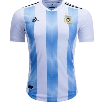 Argentina National Team 2018-2019 Home Blank Jersey - White