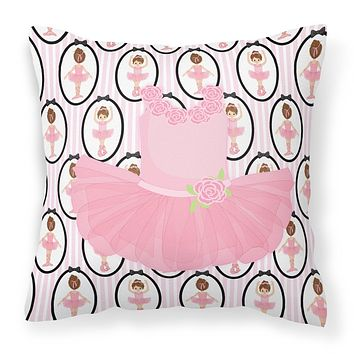 Ballerina Pink Tutu Fabric Decorative Pillow BB5153PW1818