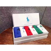 """Polo Ralph Lauren"" Popular Women Men Personality Pure Cotton Breathable Sport Socks - Boxed I-RQZ"
