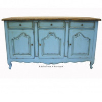 Fabulous & Baroque ? French Country Rustic Sideboard - French Blue