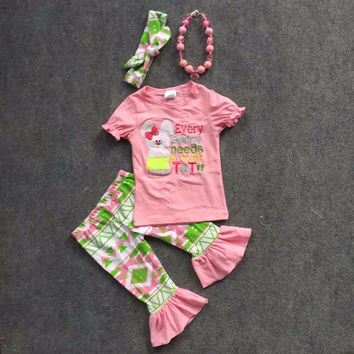 Preorder- Every bunny needs a cute tutu aztec capri set